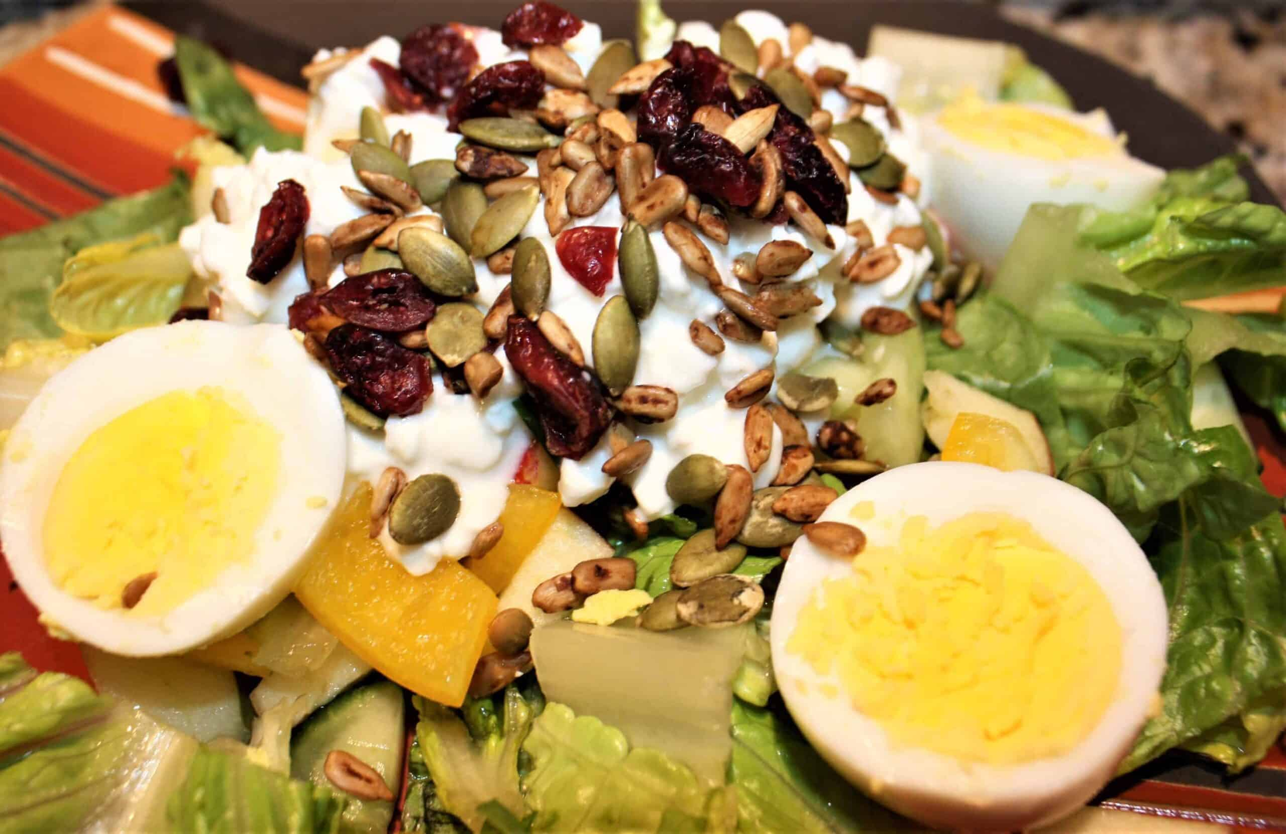 Click here to learn how to make IP hard-boiled eggs for salad