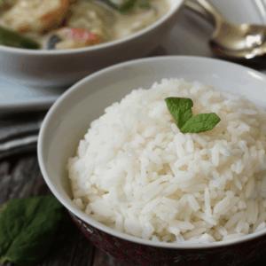 A bowl of instant pot jasmine rice