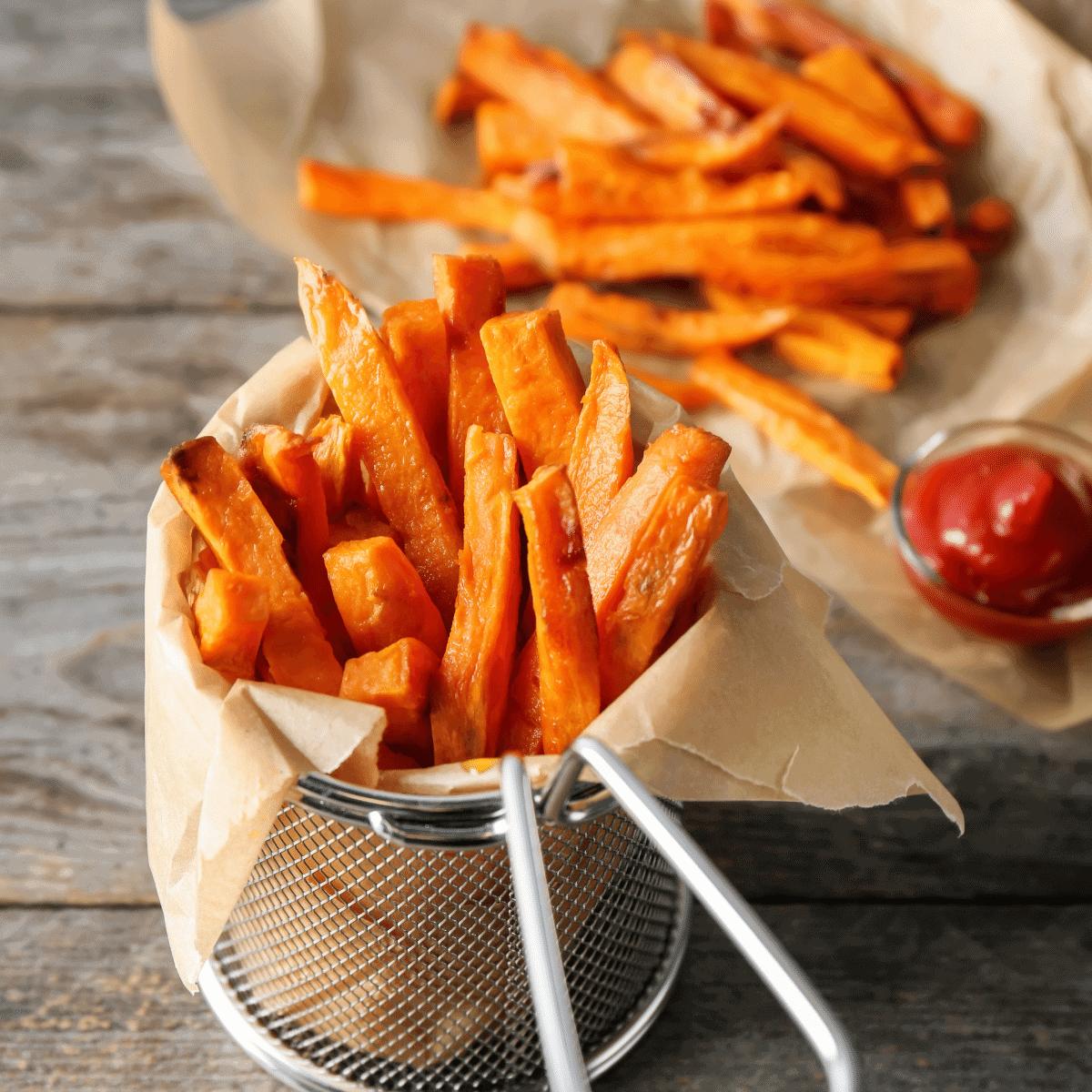 Extra crispy sweet potato fries