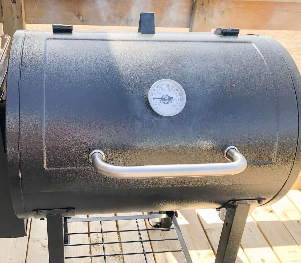 Pit Boss pellet grill smoking salmon