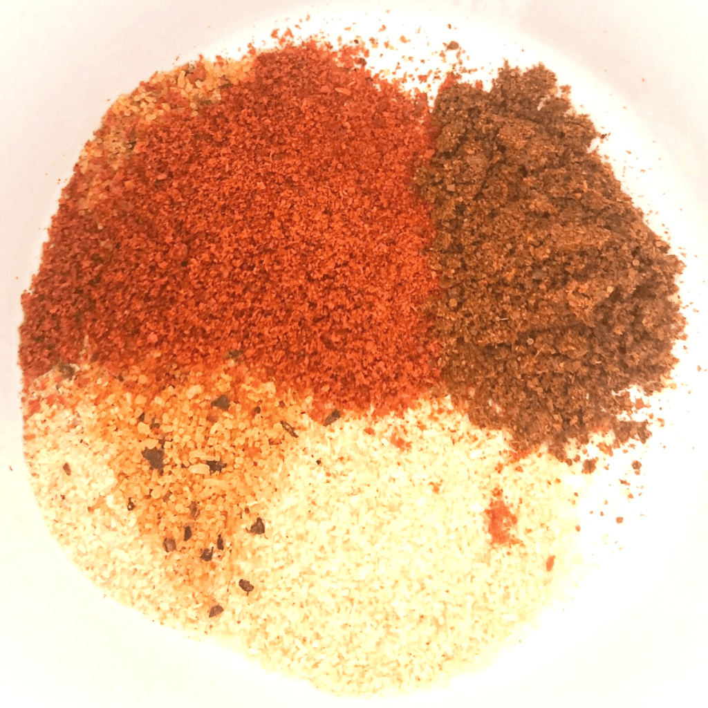 Mix seasonings together in a bowl