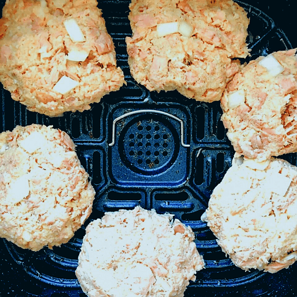 Form tuna mixture into patties and place on bottom of Air Fryer