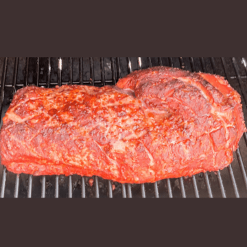Smoked pork loin roast on the grill