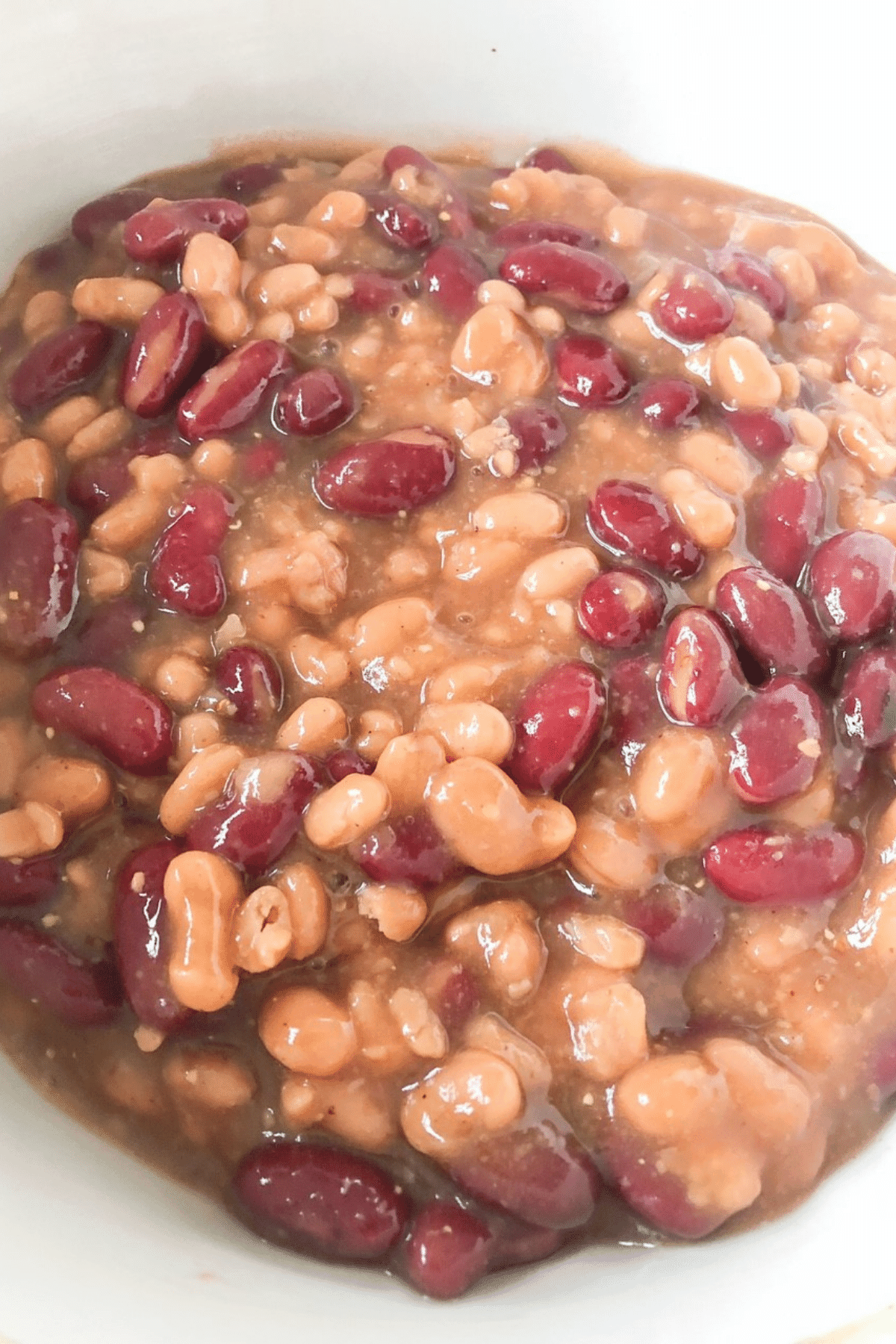 Mix all ingredients for baked beans together well