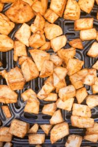 Crispy air fryer breakfast potatoes cooked until golden brown