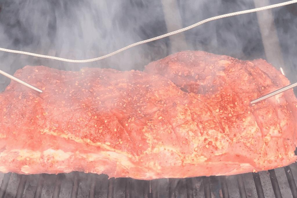 Temperature probe in roast