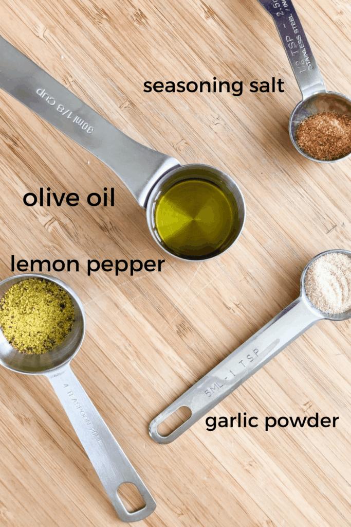 Ingredients needed to make air fryer chicken wings