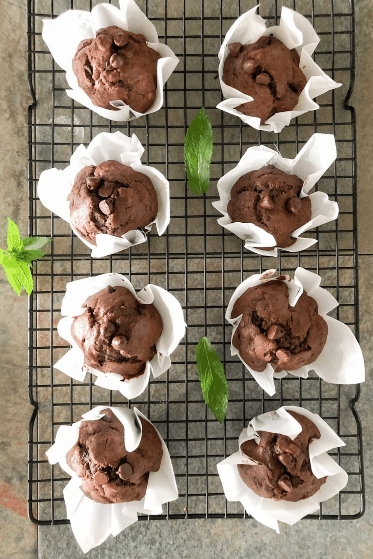 Cool muffins on cooling rack