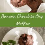 Long pin for banana chocolate chip muffins