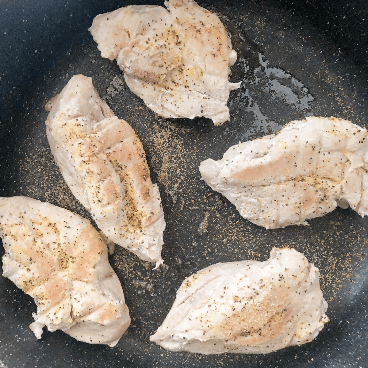 Finish instant pot chicken breasts off by searing them in a frying pan with olive oil