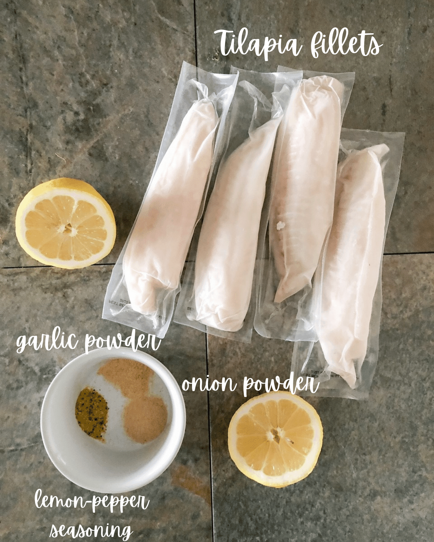 Ingredients for tilapia in air fryer