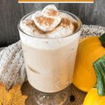 Pin for homemade iced pumpkin spice latte - Starbucks copycat recipe