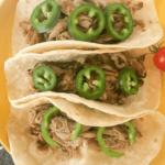 Long pin for carnitas tacos
